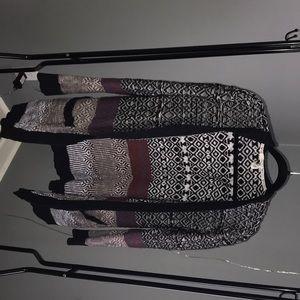 multi-pattern cardigan